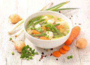 Классический куриный суп с овощами