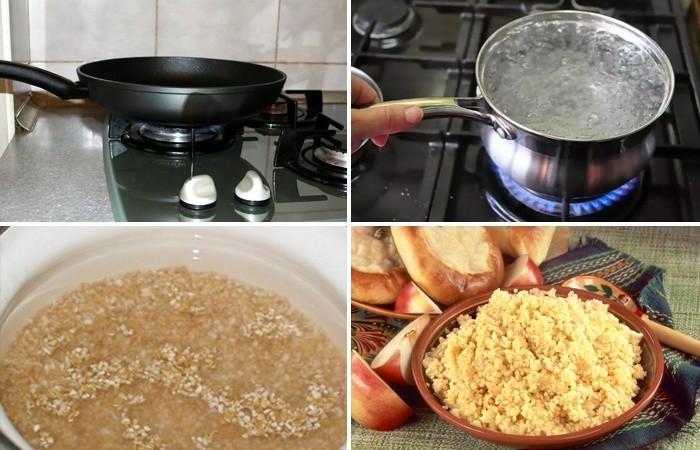 Приготовление пшеничной каши
