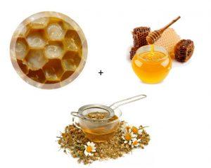 Ингредиенты для маски с маточным молочком