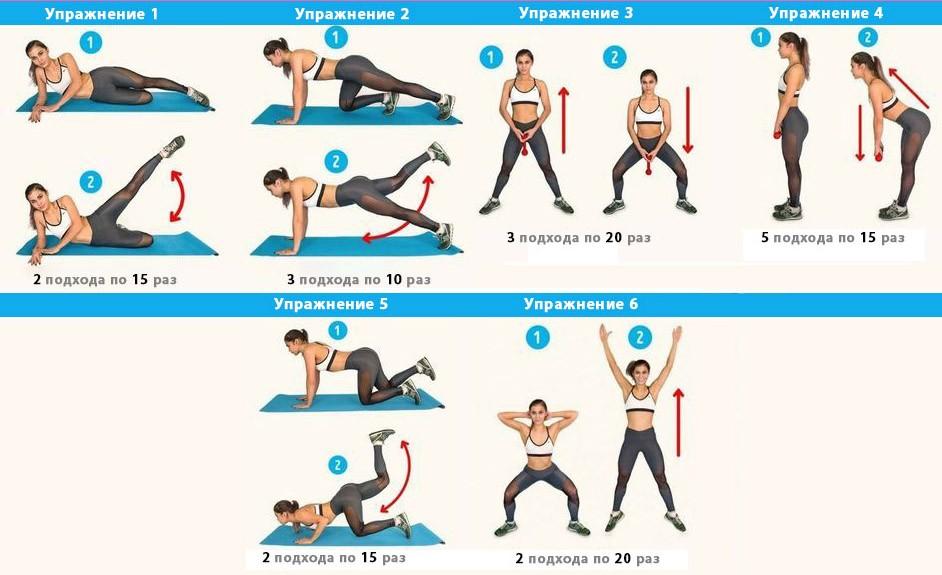6 упражнений от целлюлита