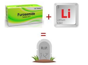 Несовместимость Фуросемида с литием