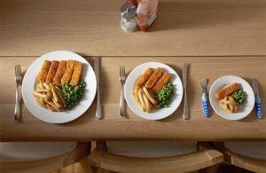 Уменьшение порций еды