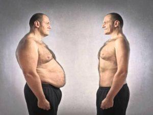 Похудение мужчины