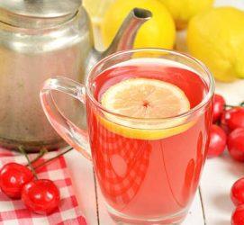Чай с вишней и лимоном