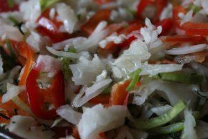Зимний салат из квашеной капусты