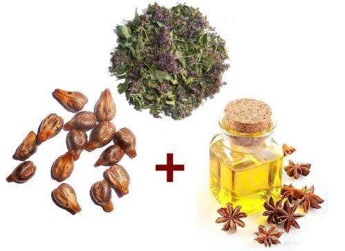 Ингредиенты для виноградной маски от прыщей