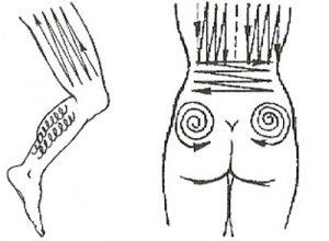 Направление движений при массаже