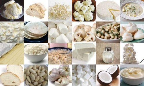 Белые продукты питания