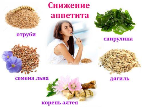 Сбор трав для снижения аппетита