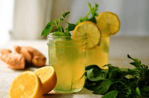 Напиток из имбиря и апельсина