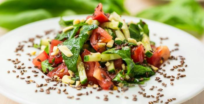 Салат из семян льна