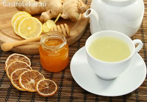 Чай и мед от изжоги