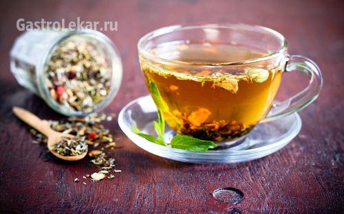 Чай из трав при изжоге