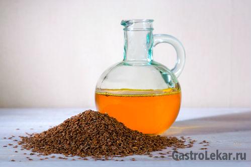 Льняное масло при лечении язвы