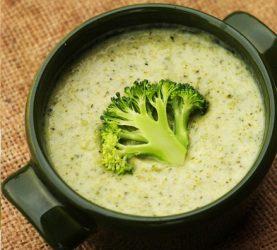 Суп-пюре с брокколи и чиа
