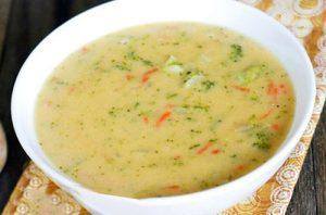 Суп из брокколи с плавленым сыром