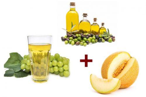 Ингредиенты для виноградной маски от морщин