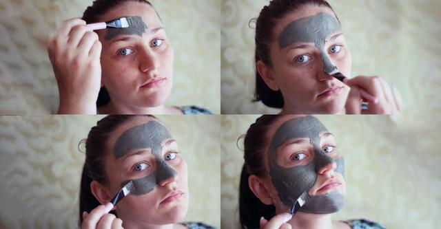 Нанесение маски из глины