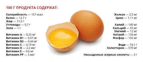 Полезный состав куриных яиц
