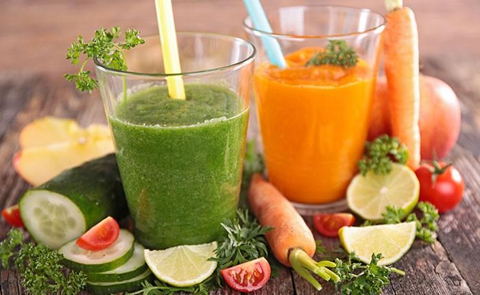 Огуречный и морковный смузи