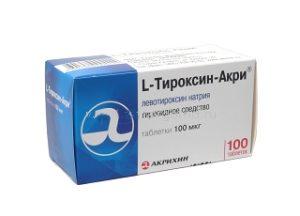 Л-тироксин-акрихин