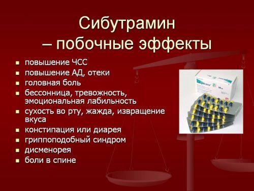 Побочные эффекты Сибутрамина
