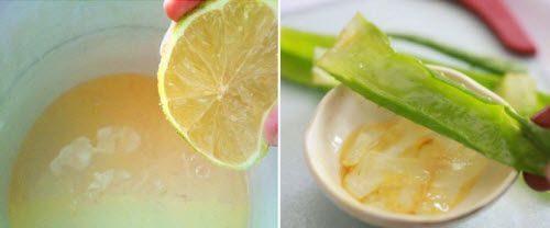 Гель из алоэ с лимоном и маслом
