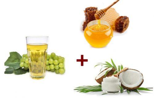 Ингредиенты для виноградной маски для сухой кожи