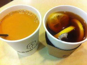 Кофе с молоком и кофе с лимоном
