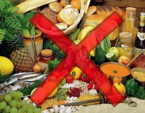Запрещенные продукты при диете на сале