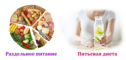Раздельное питание и питьевая диета