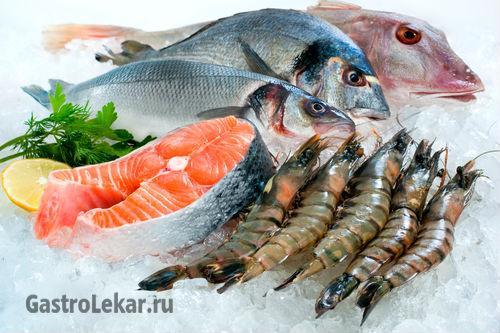Какую рыбу и другие морепродукты можно при язве желудка