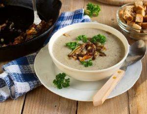 Суп с вешенками и сыром