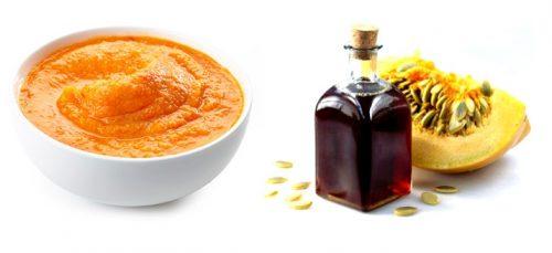 Тыквенное масло и мякоть