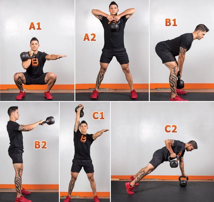 Упражнения с гирей для мужчин