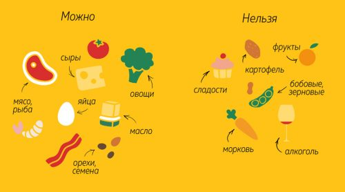 Разрешенные и запрещенные продукты на кето-диете