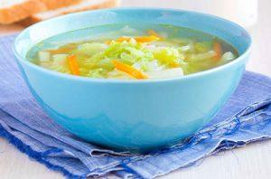 Капустный диетический суп