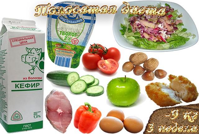 Продукты полосатой диеты