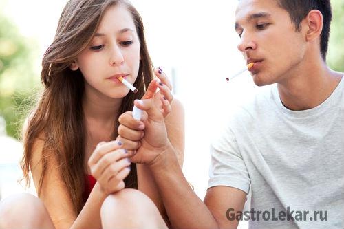 Курение при гастрите у взрослых