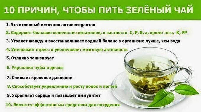 Полезные эффекты зеленого чая