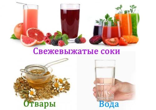 Полезные жидкости на диете