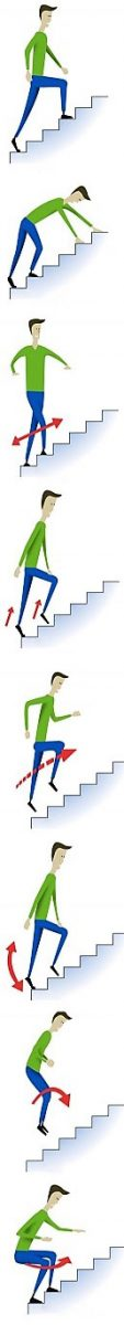 Варианты ходьбы по лестнице