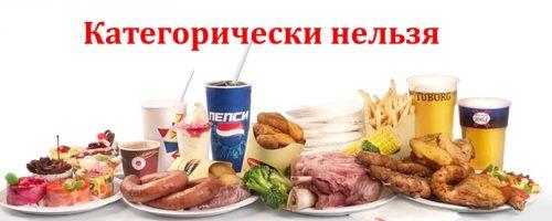 Вредные продукты для фигуры