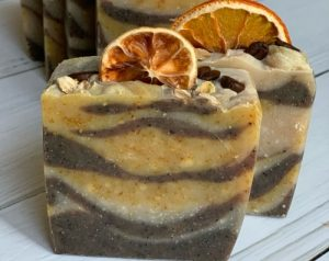 Мыло с цедрой апельсина и кофе