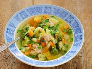 Суп из брокколи и говядины