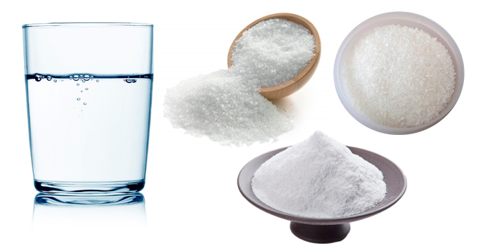Вода, соль, сахар, сода