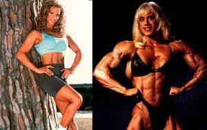 Женщина на до и после анаболиков