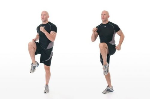 Прыжки с подъемом колена