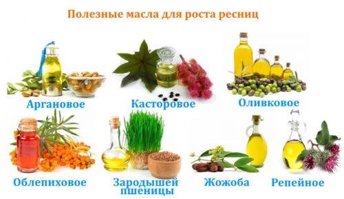 Полезные масла для роста ресниц