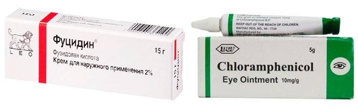 Хлорамфеникол и Фуцидин
